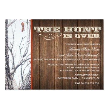 the hunt is over winter camo wedding