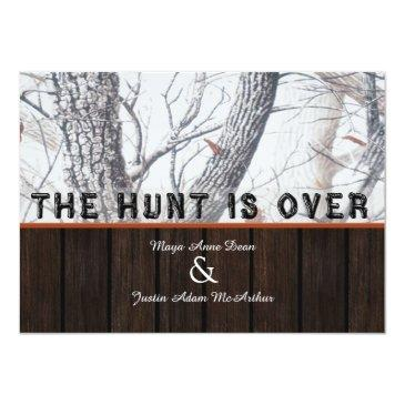 Small The Hunt Is Over Winter Camo Wedding Front View
