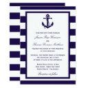 the nautical anchor navy stripe wedding collection