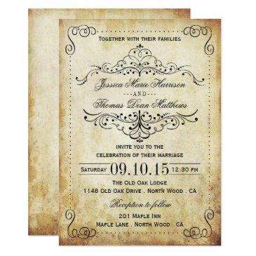 the ornate flourish vintage wedding collection