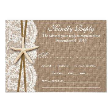 Small The Rustic Starfish Wedding Collection Rsvp Invitationss Front View