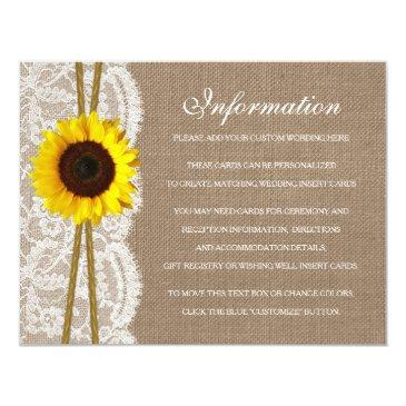 the rustic sunflower wedding collection detail