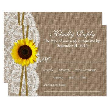 the rustic sunflower wedding collection rsvp