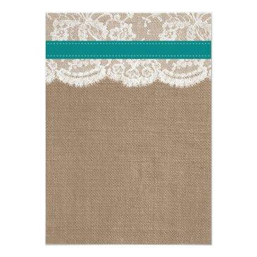 Small The Rustic Sunflower Wedding Collection - Teal Back View
