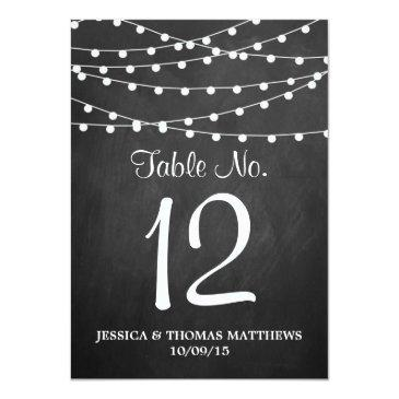 Small The String Lights On Chalkboard Wedding Collection Front View