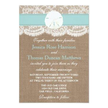 Small The Turquoise Sand Dollar Beach Wedding Collection Front View