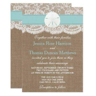 the turquoise sand dollar beach wedding collection invitations