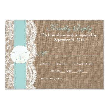 the turquoise sand dollar wedding collection rsvp