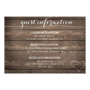 tie the knot rustic wood wedding information