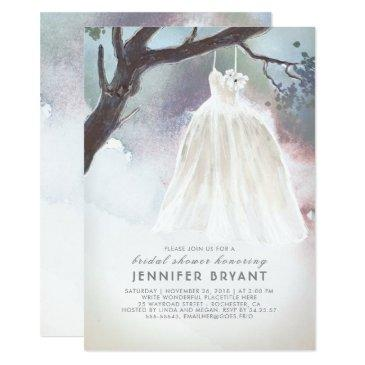 tree bridal shower | watercolor wedding dress