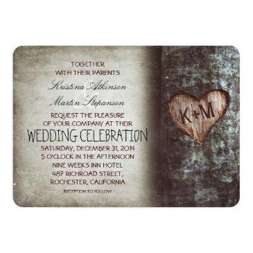 Small Tree Rustic Wedding Invitationss Front View
