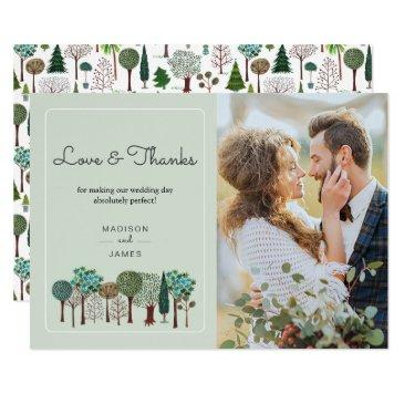 trees forest woodland | wedding | thank you