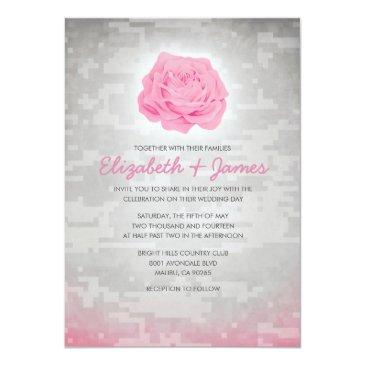 Small Trendy Floral Military Camo Wedding Front View