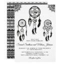 tribal boho dream catcher wedding invitations