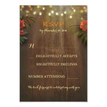 tropical floral string lights wedding rsvp