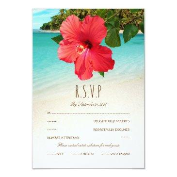 tropical hibiscus hawaiian beach themed wedding