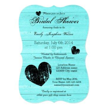 turquoise and black bridal shower