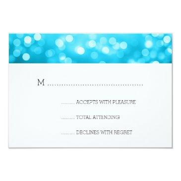 turquoise bokeh lights elegant wedding rsvp
