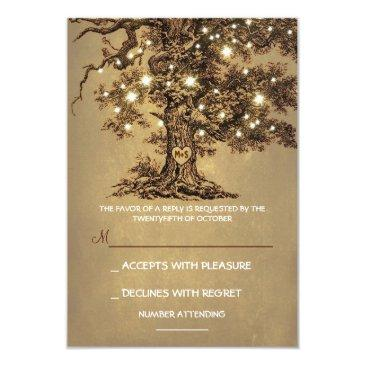 twinkle lights tree rustic wedding rsvp