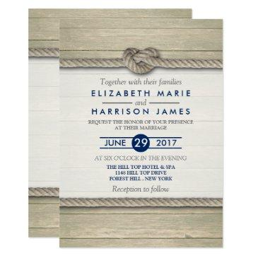 tying the knot rustic beach wedding invitations