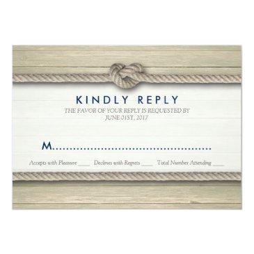 Small Tying The Knot Rustic Beach Wedding Rsvp Invitationss Front View