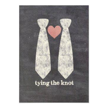 Small Tying The Know Chalkboard Gay Wedding Front View