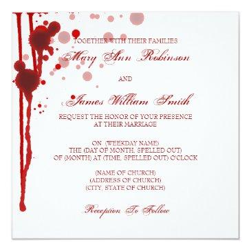 Small Vampire Halloween Wedding Fake Blood Red Front View
