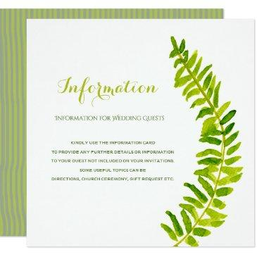 vibrant green watercolour fern foliage information