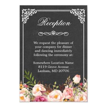 vintage chalkboard rustic floral wedding reception