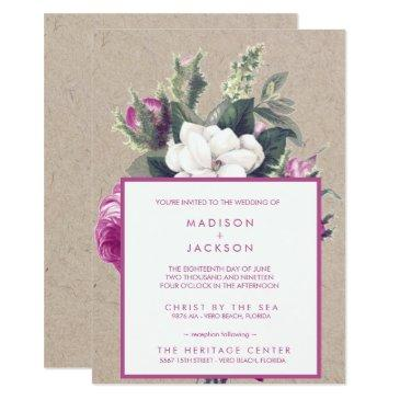 vintage floral bouquet recycled paper wedding