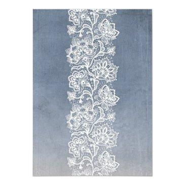 Small Vintage Floral Lace - Dusty Blue Wedding Back View