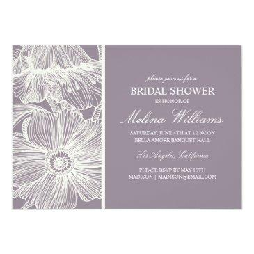 Small Vintage Garden | Bridal Shower Invitations Front View