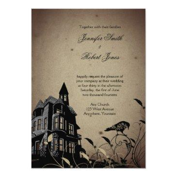 Small Vintage Gothic House Wedding Back View
