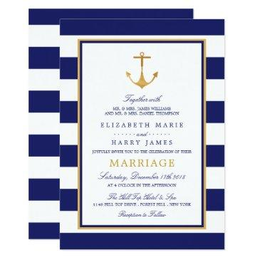 vintage nautical gold anchor wedding