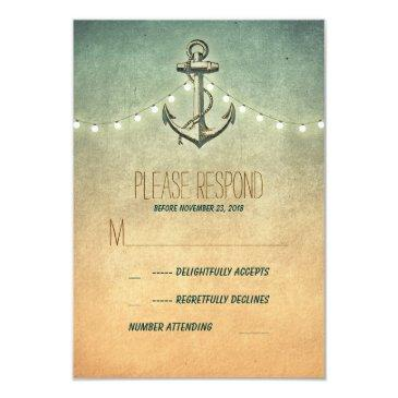 vintage nautical wedding rsvp