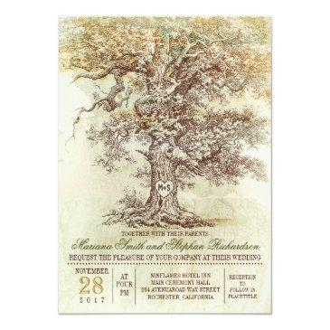 vintage old tree rustic wedding