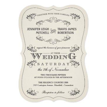 vintage ornate flourish white wedding