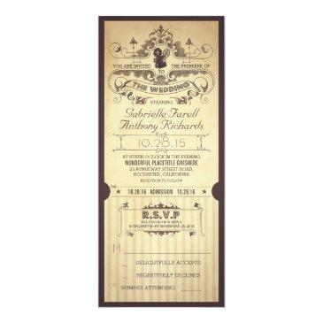 vintage retro movie tickets wedding