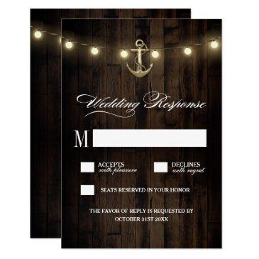vintage rustic nautical anchor wedding rsvp