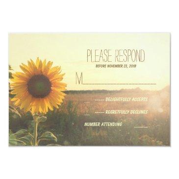 vintage sunflower wedding rsvp