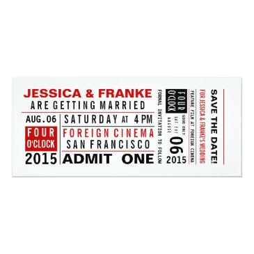 vintage ticket save the date or