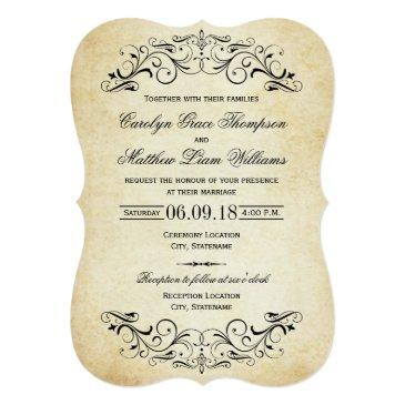 Small Vintage Wedding  | Elegant Flourish Front View