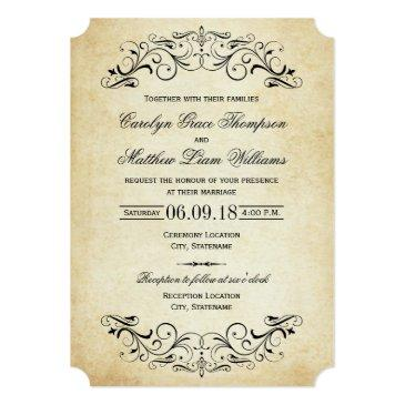 vintage wedding invitationss | elegant flourish