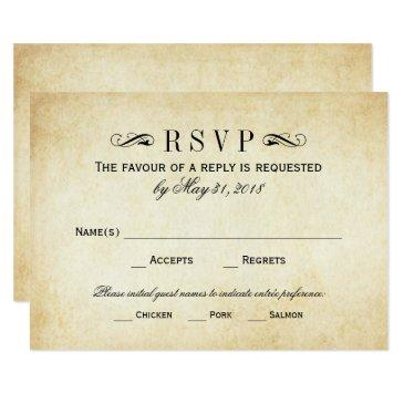 vintage wedding rsvp  | elegant flourish