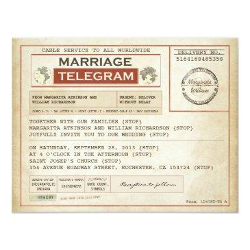 vintage wedding telegrams