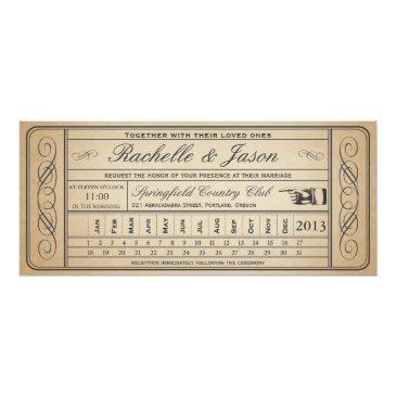 vintage wedding ticket ii punchout