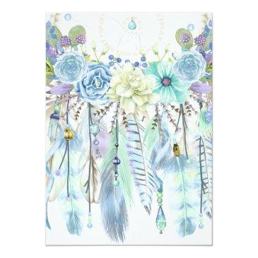 Small Watercolor Arrows Feathers Floral Boho Tribal Back View