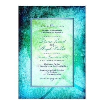 Small Watercolor Beach, Palm Trees Wedding Invitation Front View