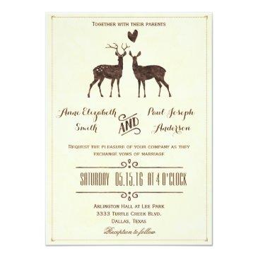 watercolor deers wedding