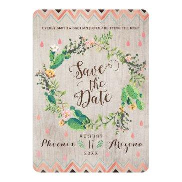 watercolor desert cactus wedding save the dates